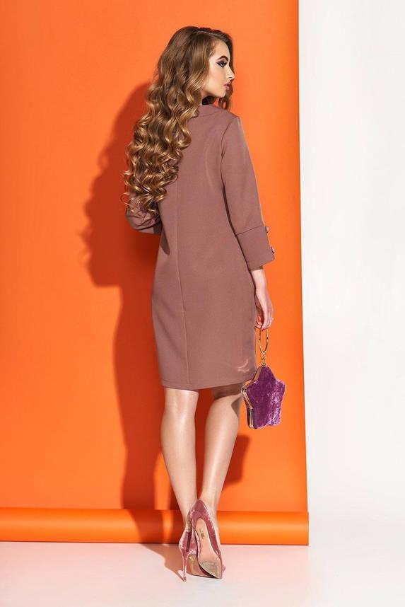 Коричневое платье в деловом стиле, S(44), фото 2