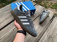 Мужские осенние кроссовки кеды Adidas Handball Spezial серые