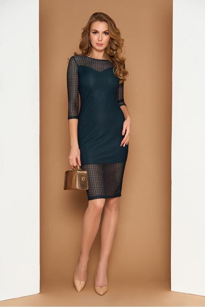 Облегающее женское платье мини зеленого цвета, S(44)