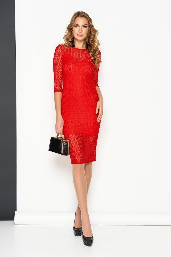 Облегающее женское платье мини красного цвета, S(44)