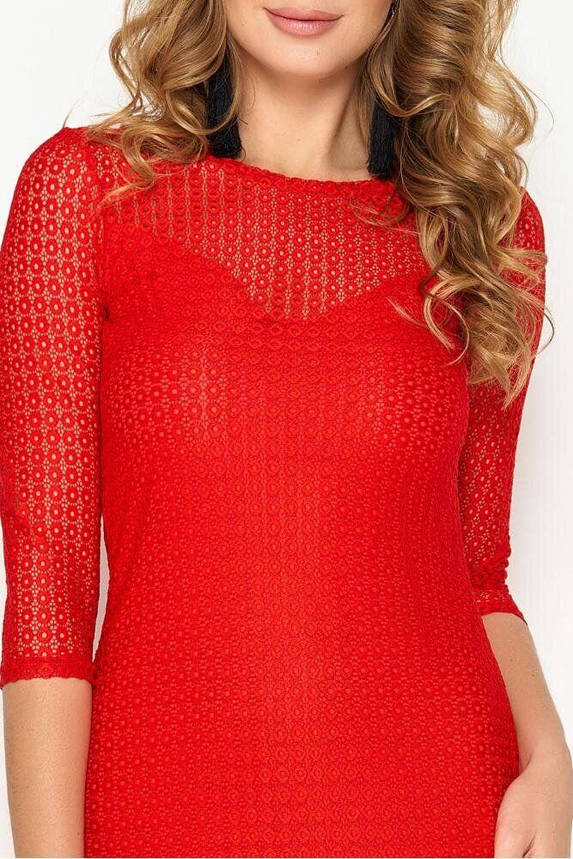 Облегающее женское платье мини красного цвета, S(44), фото 2