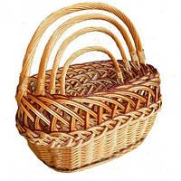 Набор плетеных корзин (3 шт)