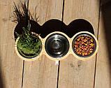 КІТ-ПЕС by smartwood Миски на подставке | Миска-кормушка металлическая для кошек котов котят  XS - 3 миски, фото 5