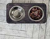 КІТ-ПЕС by smartwood Миски на подставке   Миска-кормушка металлическая для собак щенков  XS - 2 миски, фото 4