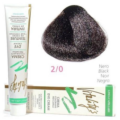 2/0 Краска для волос с экстрактами трав VITALITY'S Collection – Черный, 100 мл