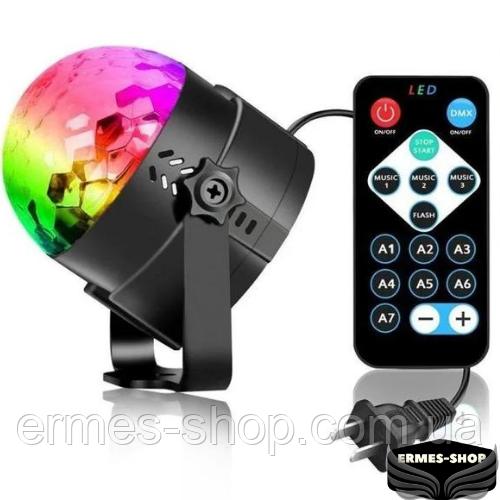 Светодиодный диско шар с пультом управления Led Party Light