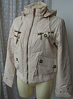 Куртка женская теплая демисезонная капюшон р.50 3894, фото 1