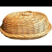 Плетеная хлебница с крышкой