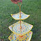 Етажерка триверха (Цукерниця/фруктовниця) Риштан, фото 5