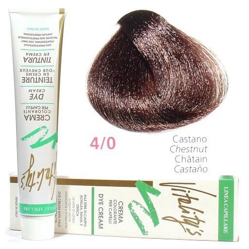4/0 Краска для волос с экстрактами трав VITALITY'S Collection – Шатен, 100 мл