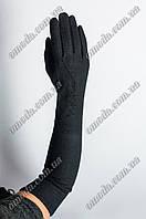 Длинные кашемировые перчатки зигзаг