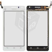 Touchscreen (сенсорный экран) для Huawei Honor+ G600 U8950, белый, оригинал