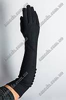 Длинные кашемировые перчатки с пуговицами