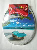 Сиденье с крышкой для унитаза мягкая цветная ( цвета в ассортименте) Aqua Fairy Украина