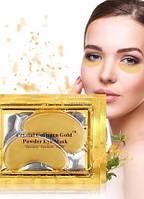 Гидрогелевые патчи с биозолотом, маски для глаз crystal collagen gold powder eye mask