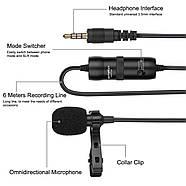 Микрофон для съемки - петличка Puluz PU427 6м (3.5mm), фото 3