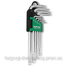 Набір ключів TORX Р-обр. довгих TOPTUL T10-T50 9ед. з отвором GAAL0919