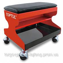 Стілець автослюсаря для СТО TOPTUL 350х300х305мм 3 полиці JCA-350A