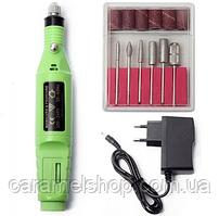 Фрезер ручка для маникюра YFZ-05 mini на 20 тыс.об/мин. 9 ватт салатовый цвет