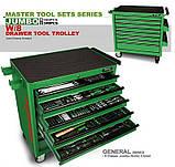 Набор инструментов в тележке TOPTUL 8 секций 360 ед. JUMBO GT-36001, фото 3