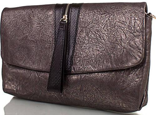 Роскошный женский кожаный клатч ETERNO (ЭТЕРНО),кофейный, ET15122