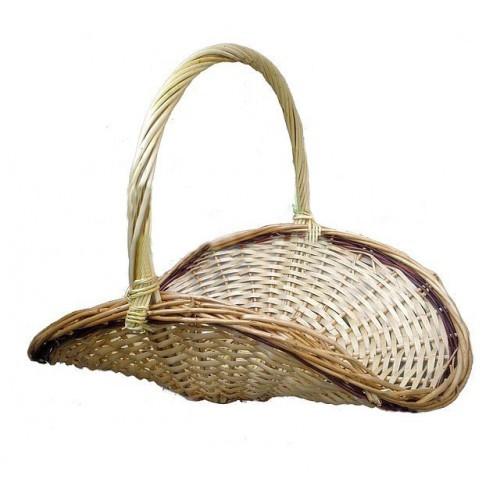 Плетеная корзинка для цветов и подарков (длина 50, ширина 38, высота 40 см)