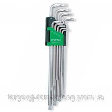 Г-образні ключі TORX TOPTUL T10-T50 9ед. супердовгі GAAL0923