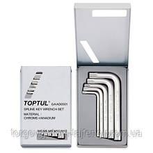 Набір ключів SPLINE Г-образних TOPTUL М5-М12 GAAD0501