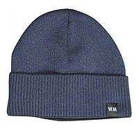 Шапка вязаная WARM Fleece цвет- темно-синий