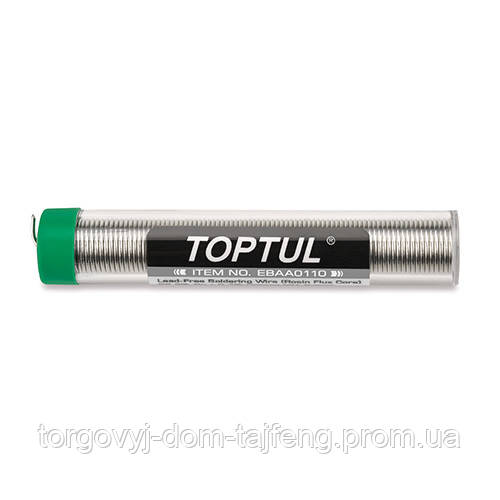 Дріт паяльна олов'яна d1мм в тубі TOPTUL EBAA0110