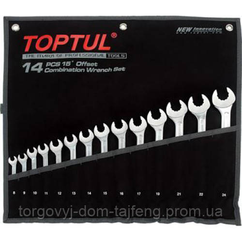 Набор комбинированных ключей 8-24 мм TOPTUL 14 шт. Dynamic GPAQ1402