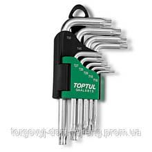 Набір ключів TORX Р-обр. TOPTUL T10-T50 9ед. GAAL0913