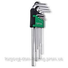 Ключі шестигранні подовжені TOPTUL 1,5-10мм 9ед. GAAL0911