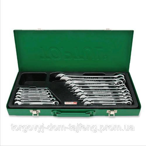 Набір ключів рожково-накидних TOPTUL 16 шт. 6-24мм (кейс) GAAD1603