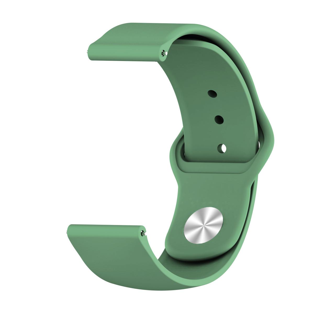 Ремешок BeWatch силиконовый для Xiaomi Amazfit BIP | GTS | GTR 42mm Зеленый (1010306)