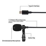 Микрофон для съемки - петличка Puluz PU425 1,5м (TYPE-C), фото 3