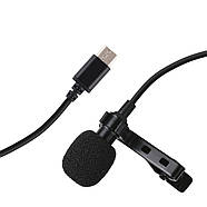 Микрофон для съемки - петличка Puluz PU425 1,5м (TYPE-C), фото 2