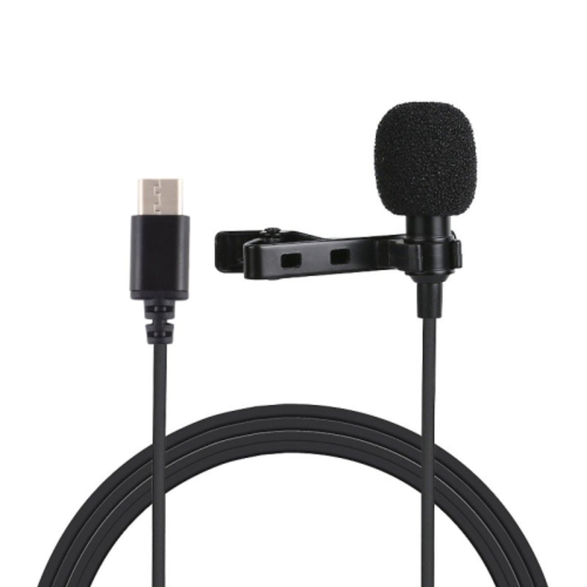 Микрофон для съемки - петличка Puluz PU425 1,5м (TYPE-C)