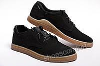 Мужские кожаные черные туфли 43 размер (28,5 см)