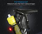Сумка подседельная водостойкая из кожзама ROSWHEEL 131396 3-В-1 со встроенным габаритом и отделением для фляги, фото 7