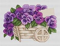 """Набор для вышивания крестом """"Luca-s"""" B259 Анютины глазки"""