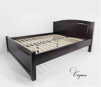 Деревянная двуспальная  кровать София 1,6 х 2 м