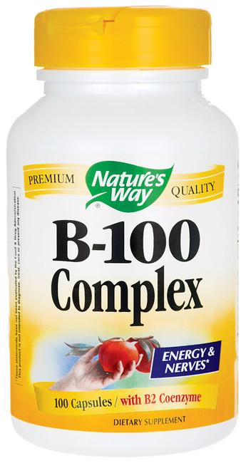 Комплекс Б-100 / B-100 Complex, 100 капсул (комплекс витаминов группы B (B1, B2, B3, B5, B6, B12))