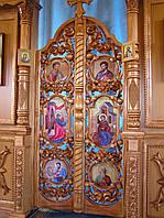 Царские врата лакированные,резные из дерева, Украина