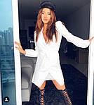 Женское платье, креп - костюмка, р-р С-М; М-Л (белый), фото 3