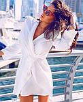 Женское платье, креп - костюмка, р-р С-М; М-Л (белый), фото 4