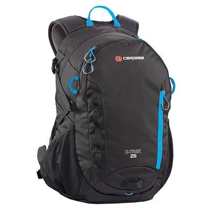 Рюкзак туристический Caribee X-Trek 28 Black/Ice Blue, фото 2