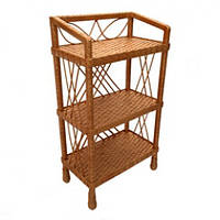 Плетеная этажерка для дома из лозы (для книг, цветов)
