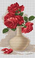 """Набор для вышивания крестом """"Luca-s"""" B506 Красные розы в вазе"""
