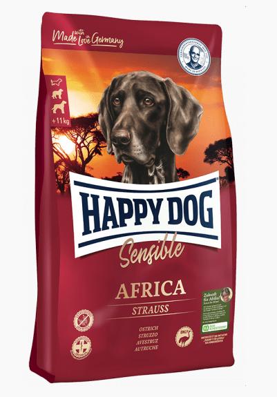 Happy Dog Africa 4кг беззерновой гипоаллергенный корм для собак (страус)